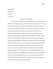 "my first day at college narrative essay whack jermaine whack  2 pages summary of ""barn burning"""