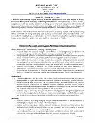 Resume Templates Astonishing Entryevel Classy Human Resources