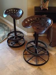 bar stool with wheels. Counter Stools From Old Tractor Seats And Wagon Wheel Frames. Bar Stool With Wheels S