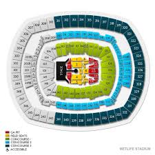 Rose Bowl Concert Seating Chart Rolling Stones 65 Explanatory Metlife Stadium Concert Seating Chart