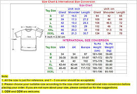 And1 Clothing Size Chart T Shirt For Men Gaming Fox Hound Compositions Specify The Color