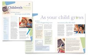 Newsletter Templates Pages Child Care Preschool Newsletter Template Word Publisher