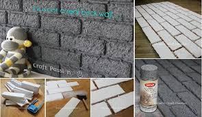 diy easy faux brick wall panel