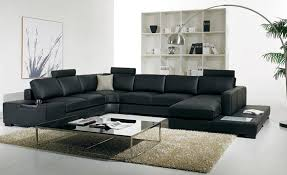 black leather sofa modern large size u shaped sofa set with light and chesterfield u shaped