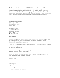 Best Ideas Of Block Business Letter Template Word With Format