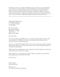 Block Business Letter Template Word Mediafoxstudio Com