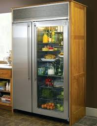 glass front refrigerator cool handle for glass door refrigerator in comfortable kitchen with wooden counter and grey glass front refrigerator used
