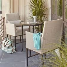 outdoor furniture small balcony. hampton bay aria 3piece balcony patio bistro set outdoor furniture small