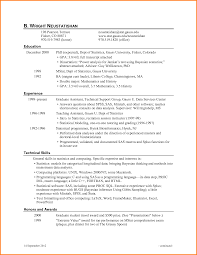 Academic Resume Sample Resume Templates Stirring Format For Phd Examples Student 55