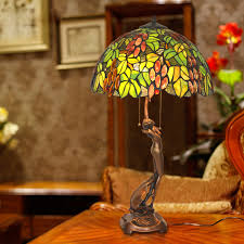 stained glass shade g pattern tiffany desk lamp loading zoom
