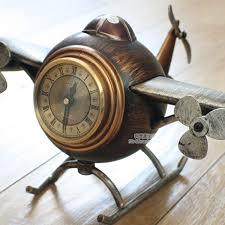 free via dhl vintage style desk table clocks alarm clock digital plane model personalized decoration home decorations in desk table clocks from
