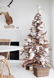 18 Modern Christmas Tree Alternatives  Modern Christmas Wooden Branch Christmas Tree