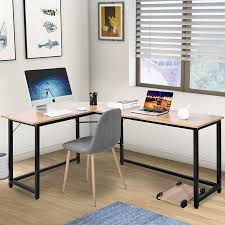 home office writing desk. ModernLuxe L-Shaped Desk Corner Computer Study Writing For Home  Office, Oak Home Office Writing Desk
