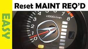 Reset Maintenance Required Light Acura Tl 2001 2006 Mdx Rsx Cl