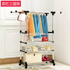 Clothes hanging shelf Drawers Adjustable Double Rail 3tier Garment Rack Clothes Coat Hanging Shelf Stand Alibaba Adjustable Double Rail 3tier Garment Rack Clothes Coat Hanging Shelf