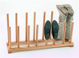 Coat And Boot Rack easy guys coat rack shelf plans This solid oak shoe and boot rack 77