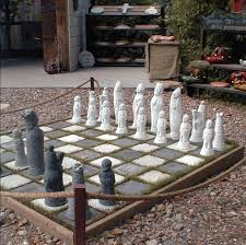 garden chess set. The Chess Set Garden