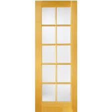 Shop Masonite Classics Pine Slab Interior Door (Common: 24-in x 80 ...
