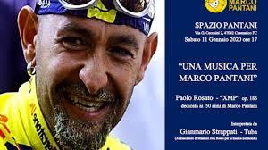 50° di Marco Pantani con la musica di Rosato e la tuba di Strappati