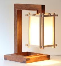 shoji japanese and wright mix table lamp by barnkatdesigns