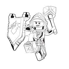 Lego Nexo Knights Coloring Pages Design Templates