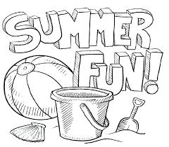 Preschool Summer Coloring Pages Psubarstoolcom
