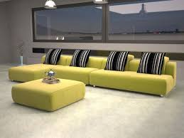 modern furniture stores with green sofa and black cushion and floor