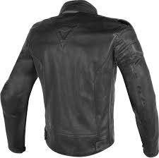 dainese street darker leather jacket perforated motorcycle clothing jackets black