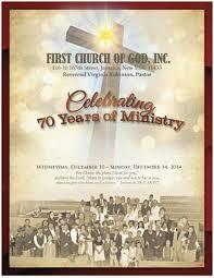 First Church Of God 70th Anniversary Program By Mldcommunications