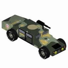 Army Humvee Pinewood Derby 3d Design Plan Instant Download