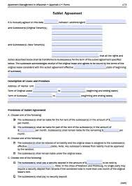 Apartment Sublease Template Free Wisconsin Sublease Agreement Form Pdf Template