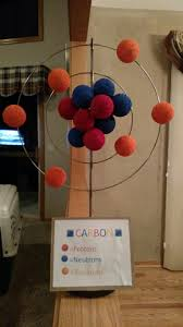 carbon atom th grade project thomas school projects  carbon atom 6th grade project