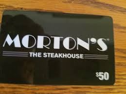 new 50 morton s steakhouse gift card 42 00