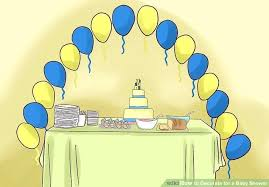 image titled decorate. Exellent Titled Decoration Of Baby Shower Image Titled Decorate For A Step 9 Nautical Theme  Balloons With Image Titled Decorate M