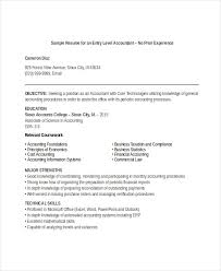 Resume Objective For Accounting Amazing Junior Accountant Resume No Experience Accounting Skills Resume