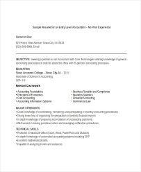Accounting Resume Skills Simple Junior Accountant Resume No Experience Accounting Skills Resume