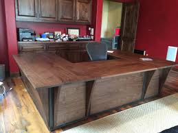 Custom Made Steel And Walnut Contemporary Desk/ Workstation