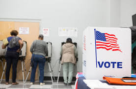 atlanta ga october 18 voters cast ballots during the early voting period at c t martin natatorium and recreation center on october 18 2018 in atlanta