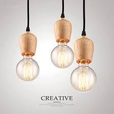 vintage kitchen lighting fixtures. Modern Pendant Lights Vintage Cord Lamp Kitchen Light Fixture Black Wire Oak Wood Luminaire Hanging Lighting Fixtures I