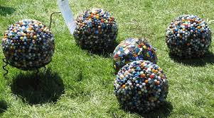 garden art. Mosaic Garden Art Projects Bowling Ball