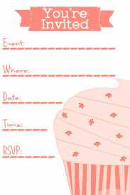 Blank Birthday Invitations Formatted Templates Example