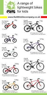 Mountain Bike Weight Comparison Chart Frog Bikes Range Comparison At A Glance The Little Bike