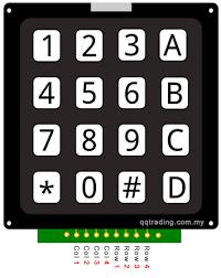 Image result for keypad 4x4