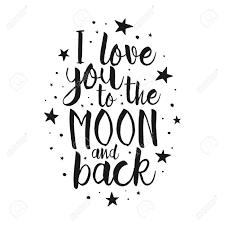 I Love You To The Moon And Back Vecteur Amour Citation Inspirée Lettrage à La Main élément De Typographie Police Pour Votre Design élément