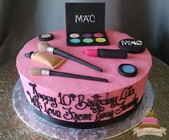 168 make up theme birthday cake