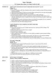 Sample Security Officer Resume Security Officers Resume Samples Velvet Jobs