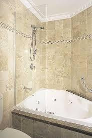 bathtub shower with glass screen