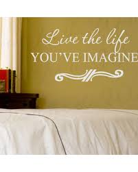 wall decal sticker quote vinyl art lettering live the life you imagined i67 on live the life you imagined wall art with here s a great deal on wall decal sticker quote vinyl art lettering