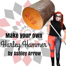 when it comes to props the bigger the better and what s better then a larger than life harley quinn hammer