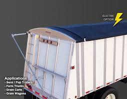 roll tarp system agricultural tarps electric tarping systems ez loc roll tarps